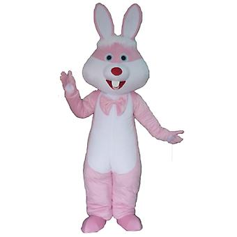 SPOTSOUND of pink and white, giant rabbit mascot