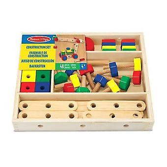 Melissa & Doug construção de madeira do brinquedo ajustado