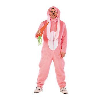 Langohrhase Hase Unisex Kostüm Rosa Kaninchen Plüsch Overall