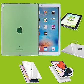 Per Apple iPad Pro 12,9 pollici 2018 verde manica Custodia cover + H9 vetro duro caso