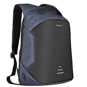 Waterproof anti-theft backpack for 16 inch Laptop-Blue