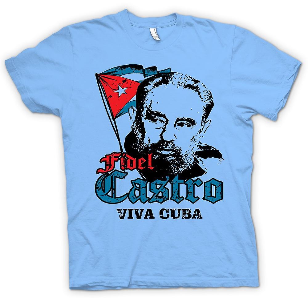 T-shirt homme - Fidel Castro Viva Cuba - communisme