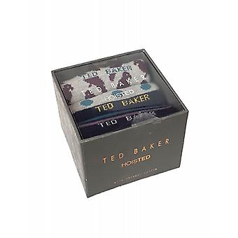 Ted Baker Socks Mens 3 Pack Clam Giftbox