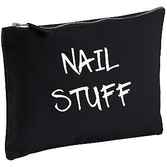 Uñas cosas negro lona que el bolso