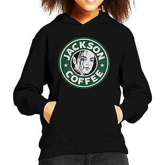 Michael Jackson Coffee Logo Kid's Hooded Sweatshirt