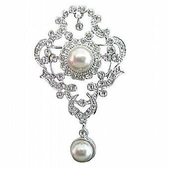 Viktorianske antikk stil Bridal brosje Pin med perler