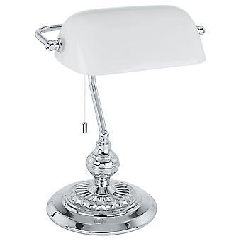 Eglo - Bankier Banker Tisch Lampe Chrom EG90968