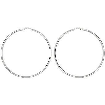 Bella 40mm Hoop Earrings - Silver