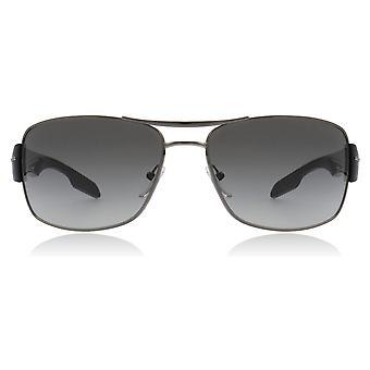 Prada Sport PS53NS 5AV3M1 Gunmetal PS53NS Square Pilot Sunglasses Lens Category 2 Size 65mm