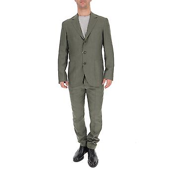 Brunello Cucinelli Green Cotton Suit