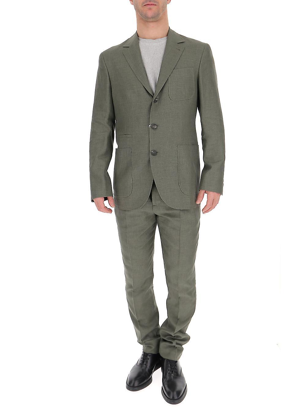 البدلة الخضراء القطن Brunello Cucinelli