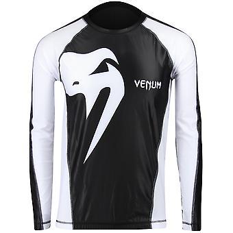 Venum Mens Giant Long Sleeve Rashguard - Black/White