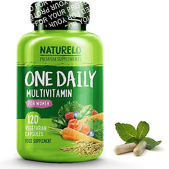 Women's one daily multivitamin with natural vitamins and fruit extracts - 120 capsules | 4 month supply (vegan)