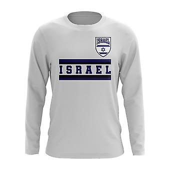 Israel Core Football Country Long Sleeve T-Shirt (White)