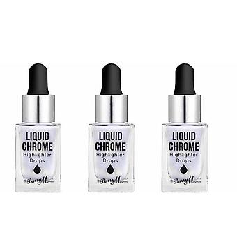 Barry M 3 X Barry M Liquid Chrome Highlight Drops - Moon Potion