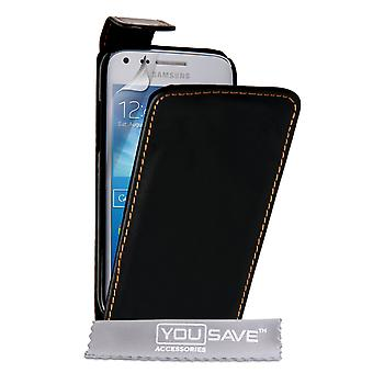 YouSave Samsung Galaxy Core Plus LeatherEffect Flip Case zwart