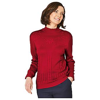 Ladies Womens Embroidered Jumper