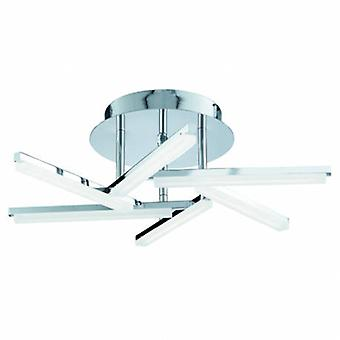Led Flush Multi Arm Plafond Lumière Chrome