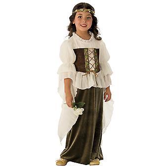 Woodland Girl Fairy Maid Marion Medieval Renaissane Book Week Girls Costume