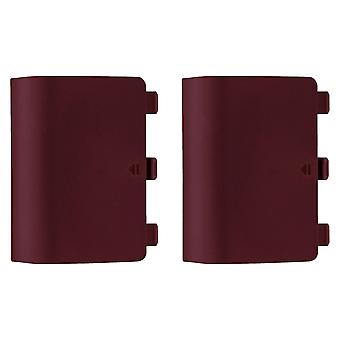 Replacement battery back cover holder for red microsoft xbox one controllers - 2 pack red