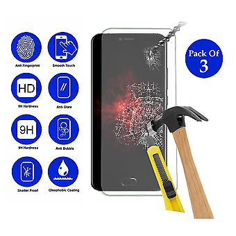 Pack of 3 Tempered Glass Screen Protection For All Call Bro 5