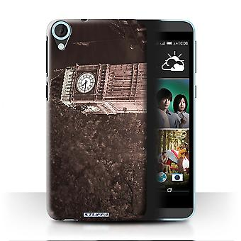 STUFF4 Case/Cover for HTC Desire 820s Dual/Big Ben Sepia/London England