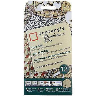 Zentangle Renaissance Tool Set 12pc-Tan Tiles 50112