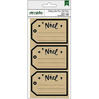 American Crafts Remarks Holiday Kraft Labels 3