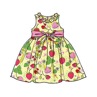 Children's Girls' Lined Dresses  Cl 6  7  8 Pattern M5793  Cl0