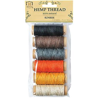 Hanf Thread 2 Ply 6 Mini spoolt Pkg Sunrise Htbg2 Sr