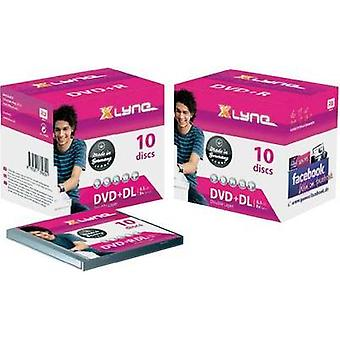 Blank DVD+R DL 8.5 GB Xlyne 4J10000 10 pc(s) Jewel case