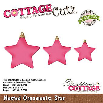 CottageCutz Basics Dies 3/Pkg-Star, Largest 3.7