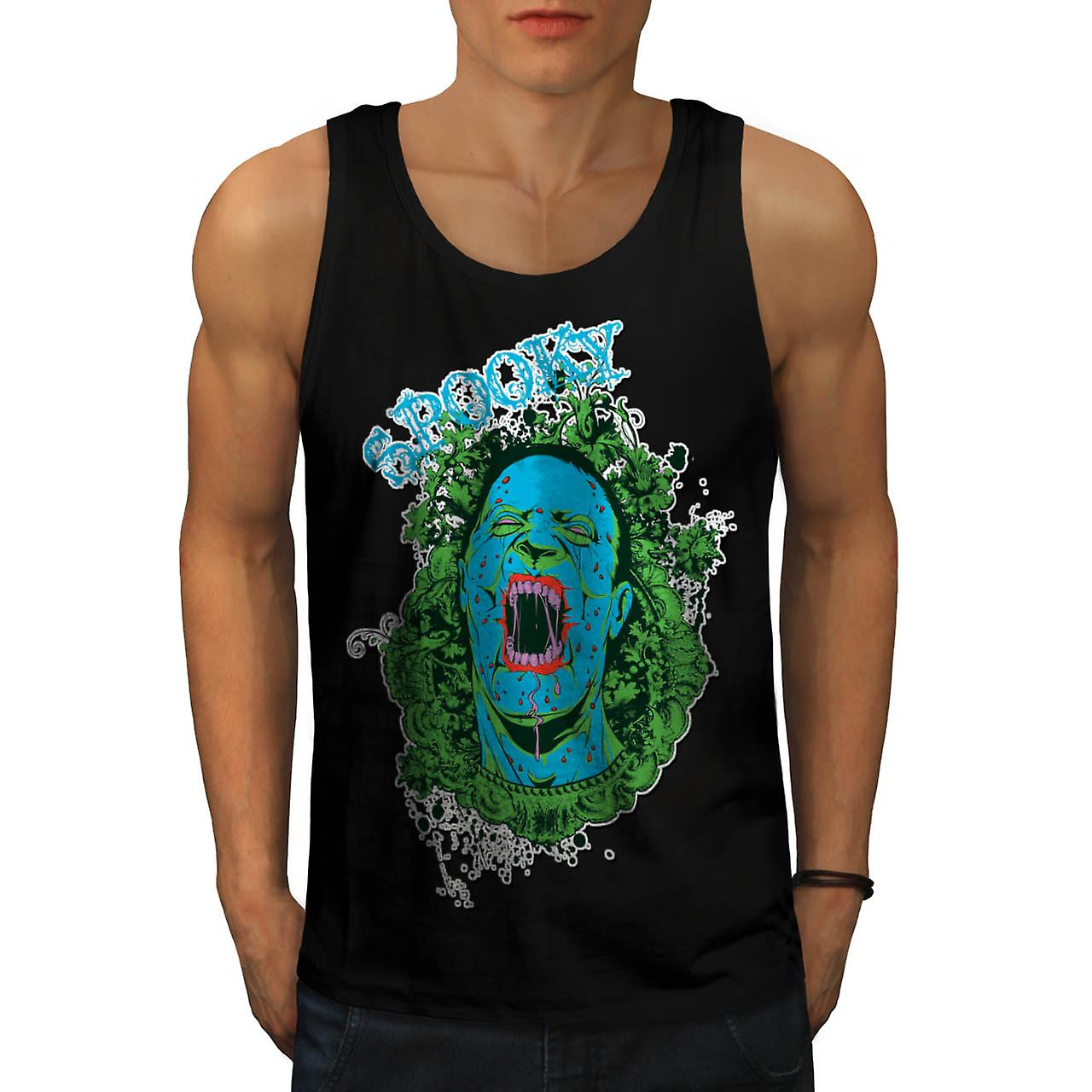 Spooky Vampire Ghost Horror Dead Men Black Tank Top | Wellcoda