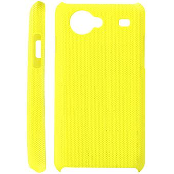Dotted plastic cover for Samsung Galaxy S Advance i9070 (light yellow)