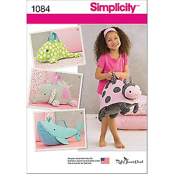 SIMPLICITY STUFFED ANIMAL BAGS-ONE SIZE US1084OS