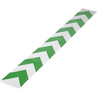 Warning stripe Conrad Components RTS Green, Silver (L x W) 1 m x 115 mm Content: 1 pc(s)