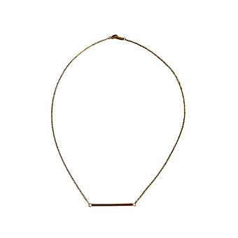 Gold-colored minimalist chic statement necklace
