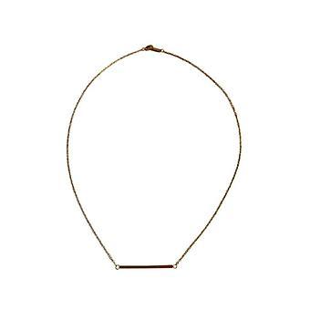 Guldfärgade minimalistisk chic uttalande halsband