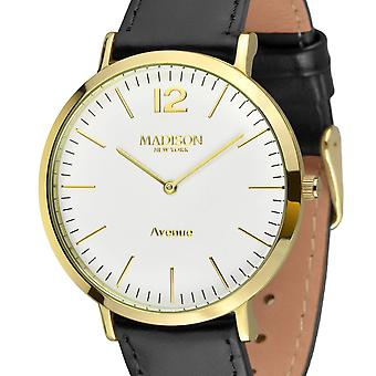 MADISON NEW YORK Damen Uhr Armbanduhr Avenue Leder L4741C2