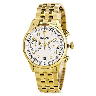 Bulova Chronograph Gold-Tone Stainless Steel Men's watch #97B149