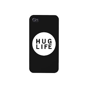 Hug Life Black Sleeveless Black Phone Case