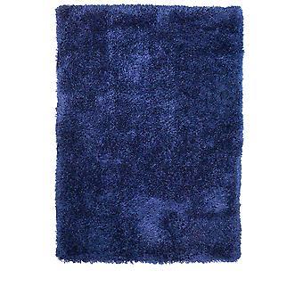 Moderne tyk Indigo blå Shaggy tæppe - Barrington