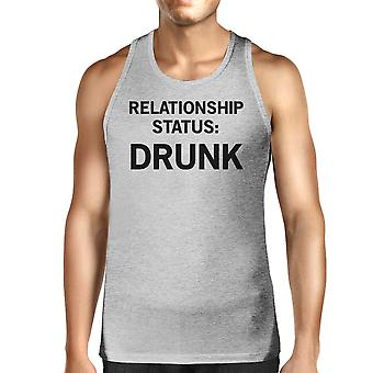 Relationship Status Men's Cotton Tanks Unique Design Graphic Tanks