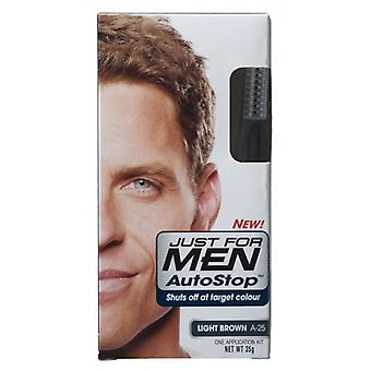 Just For Men 3 X Just For Men AutoStop Foolproof Haircolour Light Brown (A-25)