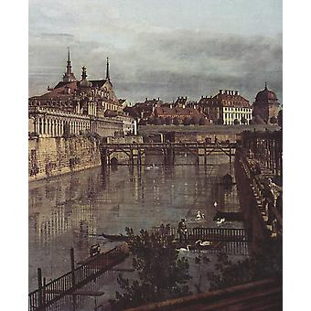 Canaletto - Grey Cityscape Poster Print Giclee
