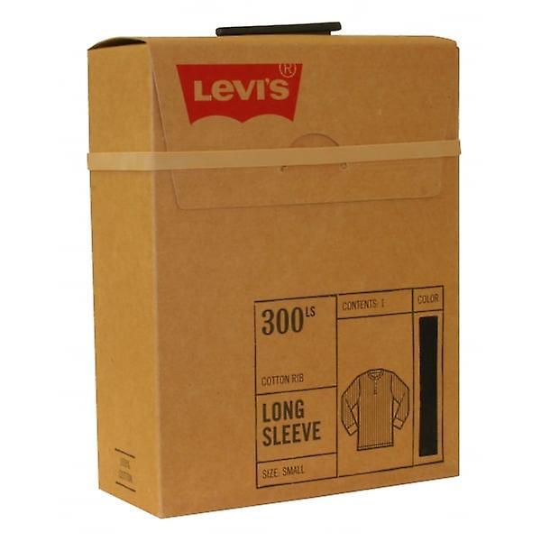 edcc25f15e3 Levi's 300 Levi Strauss Ribbed Cotton Long-Sleeve Henley T-Shirt, Black