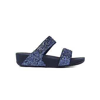 FitFlop Women's Glitterball Slide Sandals - Midnight Night