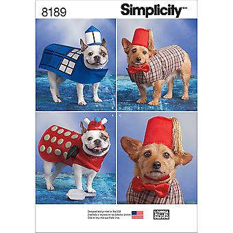 SIMPLICITY DOG COSTUMES IN THREE SIZES-S-M-L US8189A