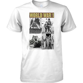 World War 1 Foto Collage - Tank soldater Civillians - Mens T-skjorte