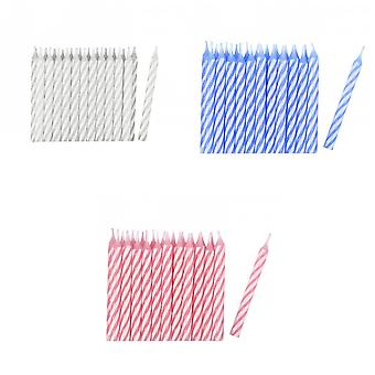 Amscan Stripe Party Candles (Pack Of 24)